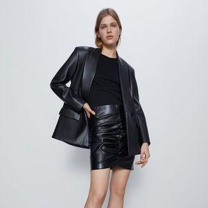NWT Zara Faux Leather Blazer